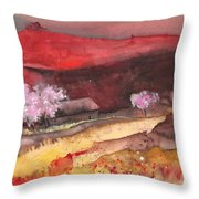 The Red Mountain Throw Pillow