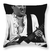 The Red Rocker In Black And White Throw Pillow