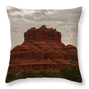 The Red Rocks Of Sedona Throw Pillow