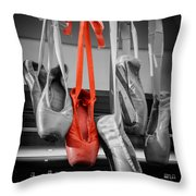 The Red Slipper Throw Pillow