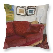 The Red Sofa Throw Pillow