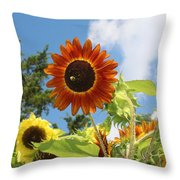 The Red Stand Out Throw Pillow