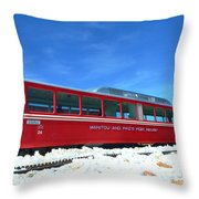 The Red Train Throw Pillow