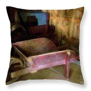 The Red Wheelbarrow Throw Pillow