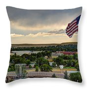 The Red White And Blue Throw Pillow