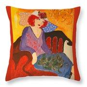 The Redhead Throw Pillow