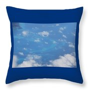 The Reefs From The Air, Bermuda # 6 Throw Pillow