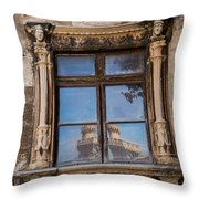 The Reflecting Castle Throw Pillow