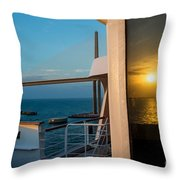 The Reflection Of A Crossing Gold To Blue Throw Pillow