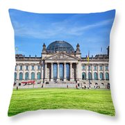 The Reichstag Building Berlin Germany Throw Pillow
