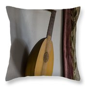 The Renaissance Lute Throw Pillow