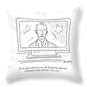 The Republican National Committee Today Asked Throw Pillow