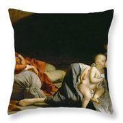 The Rest On The Flight Into Egypt Throw Pillow