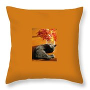 The Restful Leaves If Fall Throw Pillow