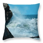 The Restless Sea Digital Art Throw Pillow