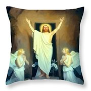 The Resurrection Of Christ By Carl Heinrich Bloch  Throw Pillow