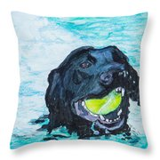 The Retrieve Throw Pillow by Roger Wedegis