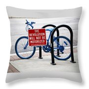 The Revolution Will Not Be Motorized Throw Pillow
