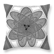 The Rh Molecule Throw Pillow
