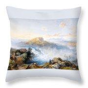 The Rhine Falls At Schaffhausen Throw Pillow