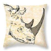 The Rhino Throw Pillow