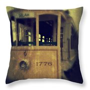 The Ride 2 Throw Pillow by Whitney Nanamkin