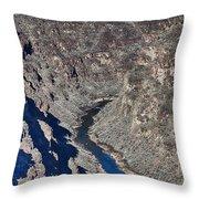 The Rio Grande River-arizona  Throw Pillow