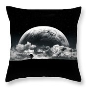 The Rise Of A Planet II Throw Pillow