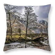 The River From Brothers Water Throw Pillow