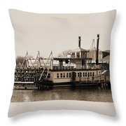 The River Lady Toms River New Jersey Throw Pillow
