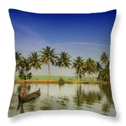 The River Man Throw Pillow