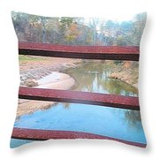 The River Through The Rails Throw Pillow