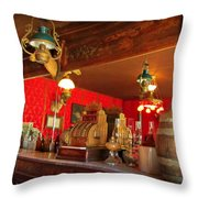 The Rivers Saloon Throw Pillow