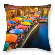 The Riverwalk Throw Pillow by Inge Johnsson