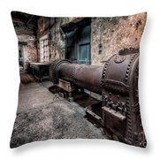The Riveted Boiler Throw Pillow