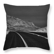 The Road Ahead-infrared Throw Pillow