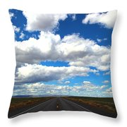 The Road Goes On Throw Pillow