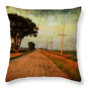 The Road Home Throw Pillow by Julie Hamilton