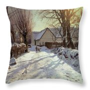 The Road Home Throw Pillow by Peder Monsted