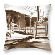 The Road To Farmington Pilot Knob Missouri Throw Pillow