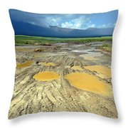 Bumpy Road To Khovd Throw Pillow