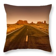 The Road To Monument Valley -utah  Throw Pillow