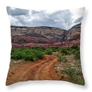 The Road To Possibilities Throw Pillow