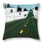 The Road Travel Throw Pillow