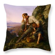 The Robber And His Child Throw Pillow