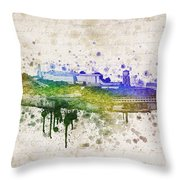The Rock Throw Pillow by Aged Pixel