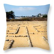 The Rock Maze Santa Barbara Throw Pillow