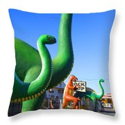 The Rock Shop Just Off Route 66 Throw Pillow
