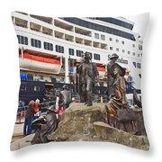 The Rock Ketchikan Alaska  Throw Pillow