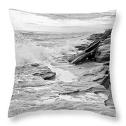 The Rocky Coast Throw Pillow